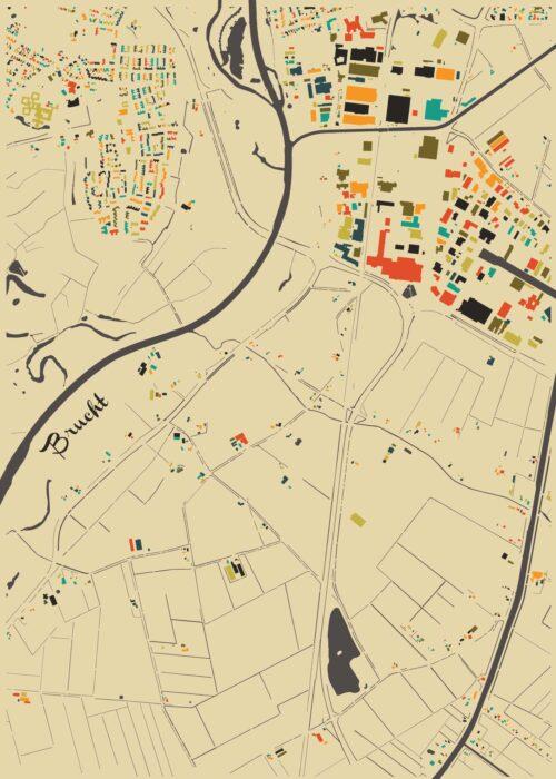 Brucht Autumn Mosaic Map