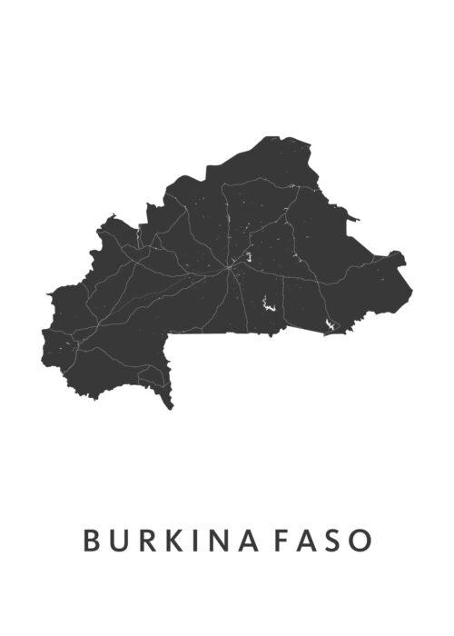 Burkina Faso Landkaart