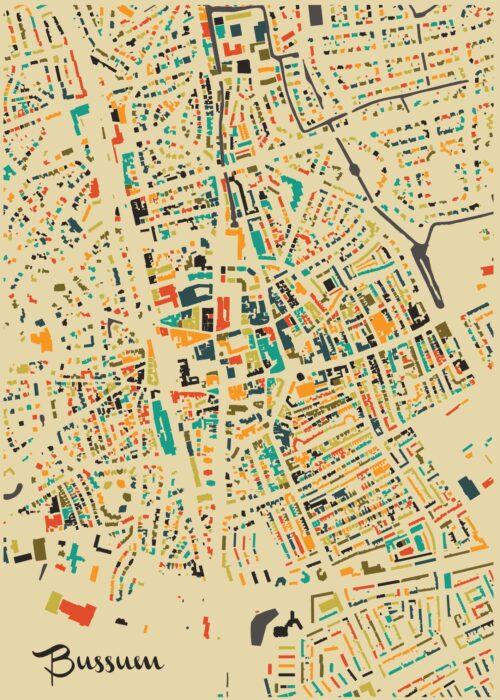 Bussum Autumn Mosaic Map