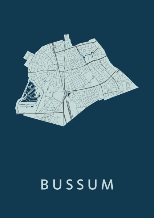 Bussum Navy Stadskaart Poster   Kunst in Kaart