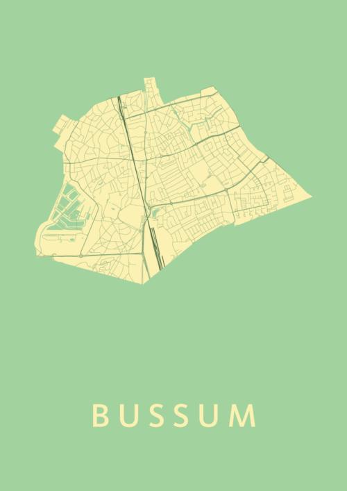 Bussum Spring Stadskaart Poster | Kunst in Kaart