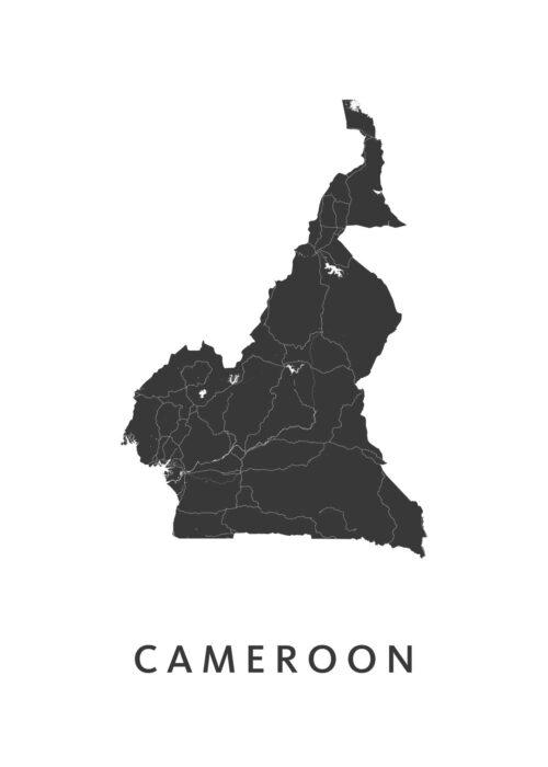 Cameroon Landkaart