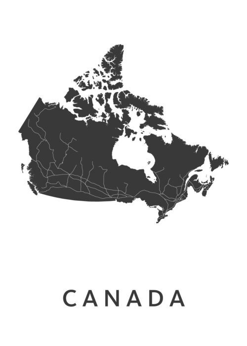 Canada Country Map stadskaart poster