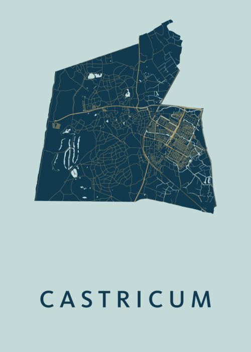 Castricum Prussian Stadskaart Poster | Kunst in Kaart