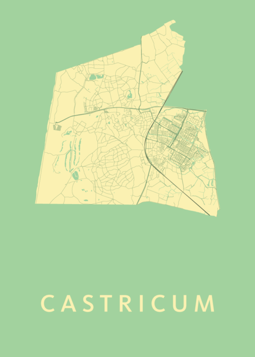 Castricum Spring Stadskaart Poster | Kunst in Kaart