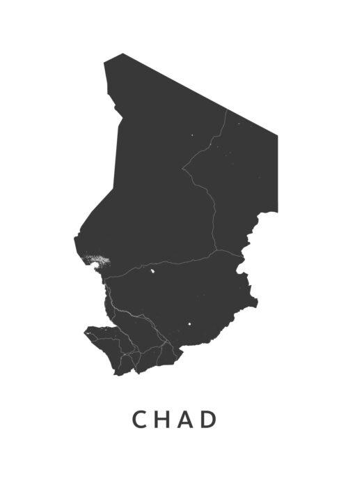 Chad Landkaart