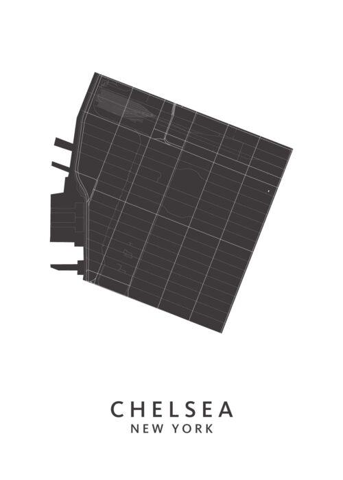 New York - Chelsea - Wijkkaart - White