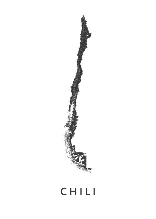 Chili Landkaart