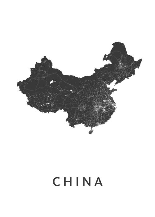 China Landkaart