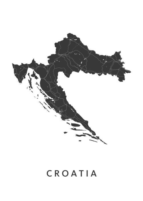 Croatia Landkaart
