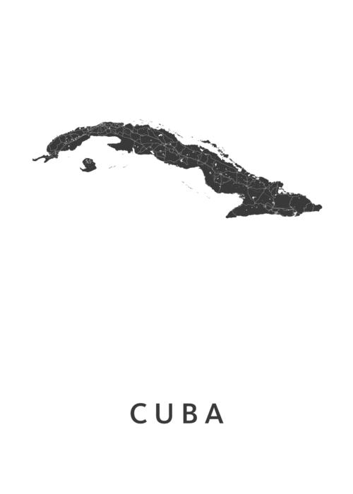 Cuba Landkaart