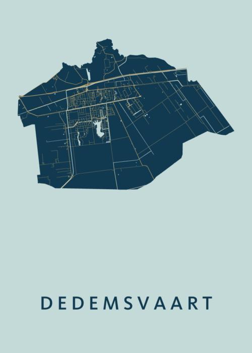Dedemsvaart Prussian Stadskaart Poster | Kunst in Kaart