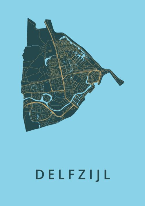 Delfzijl Azure City Map