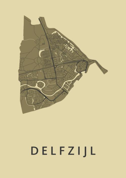 Delfzijl GoldenRod City Map