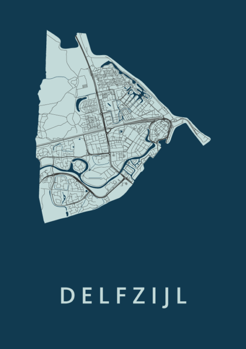 Delfzijl Navy City Map