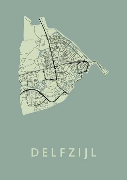 Delfzijl Olive City Map