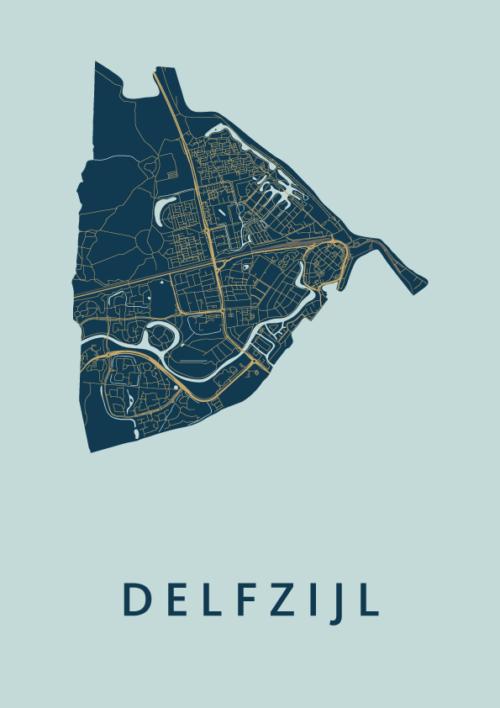 Delfzijl Prussian City Map