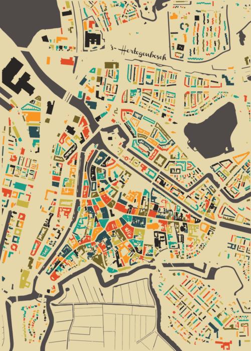 's-Hertogenbosch Autumn Mosaic Map