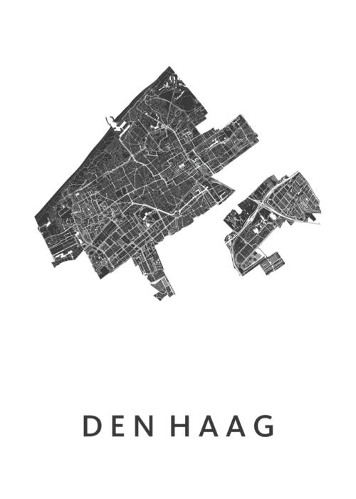 Den Haag Stadskaart poster