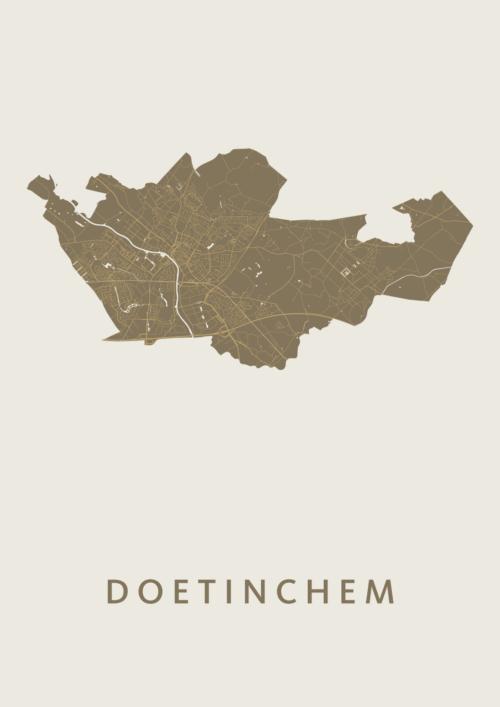 Doetinchem Stadskaart Poster Gold