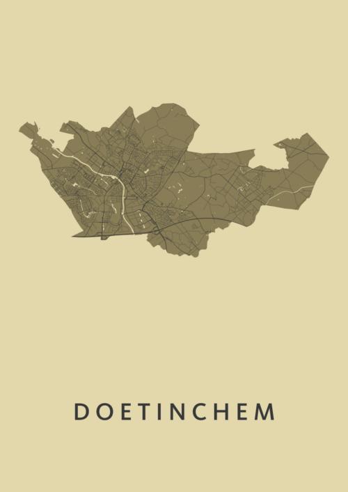 Doetinchem Stadskaart Poster GoldenRod