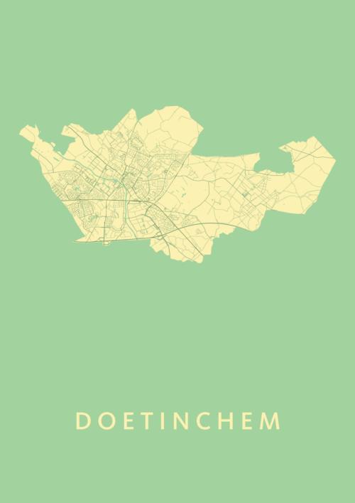 Doetinchem Stadskaart Poster Spring