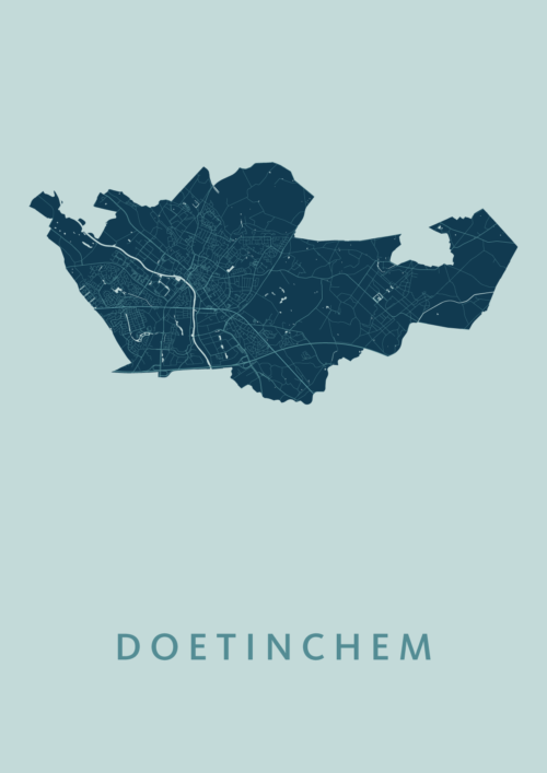 Doetinchem Stadskaart Poster Mint