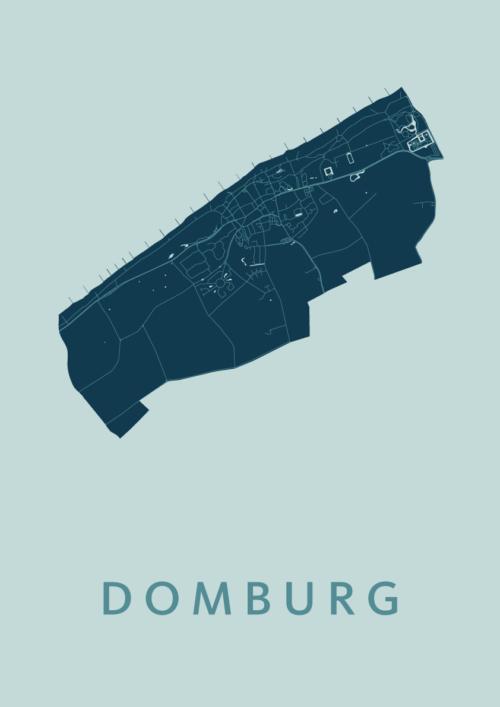 Domburg Mint Stadskaart Poster | Kunst in Kaart
