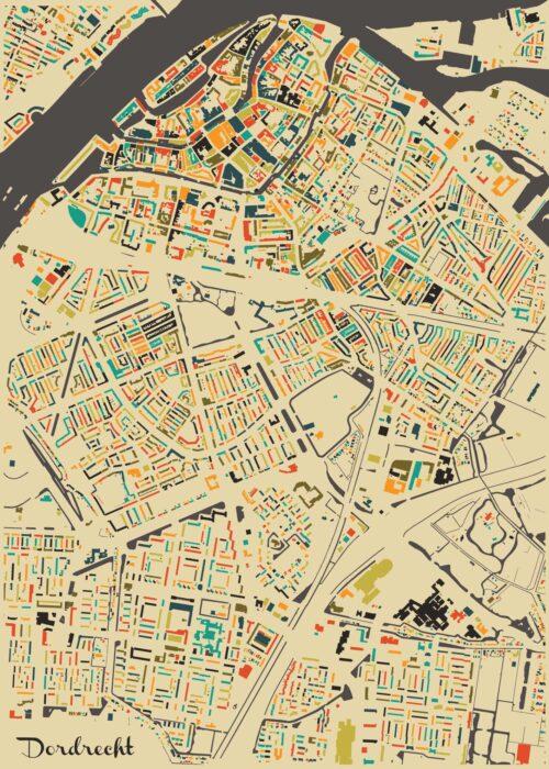 Dordrecht Autumn Mosaic Map