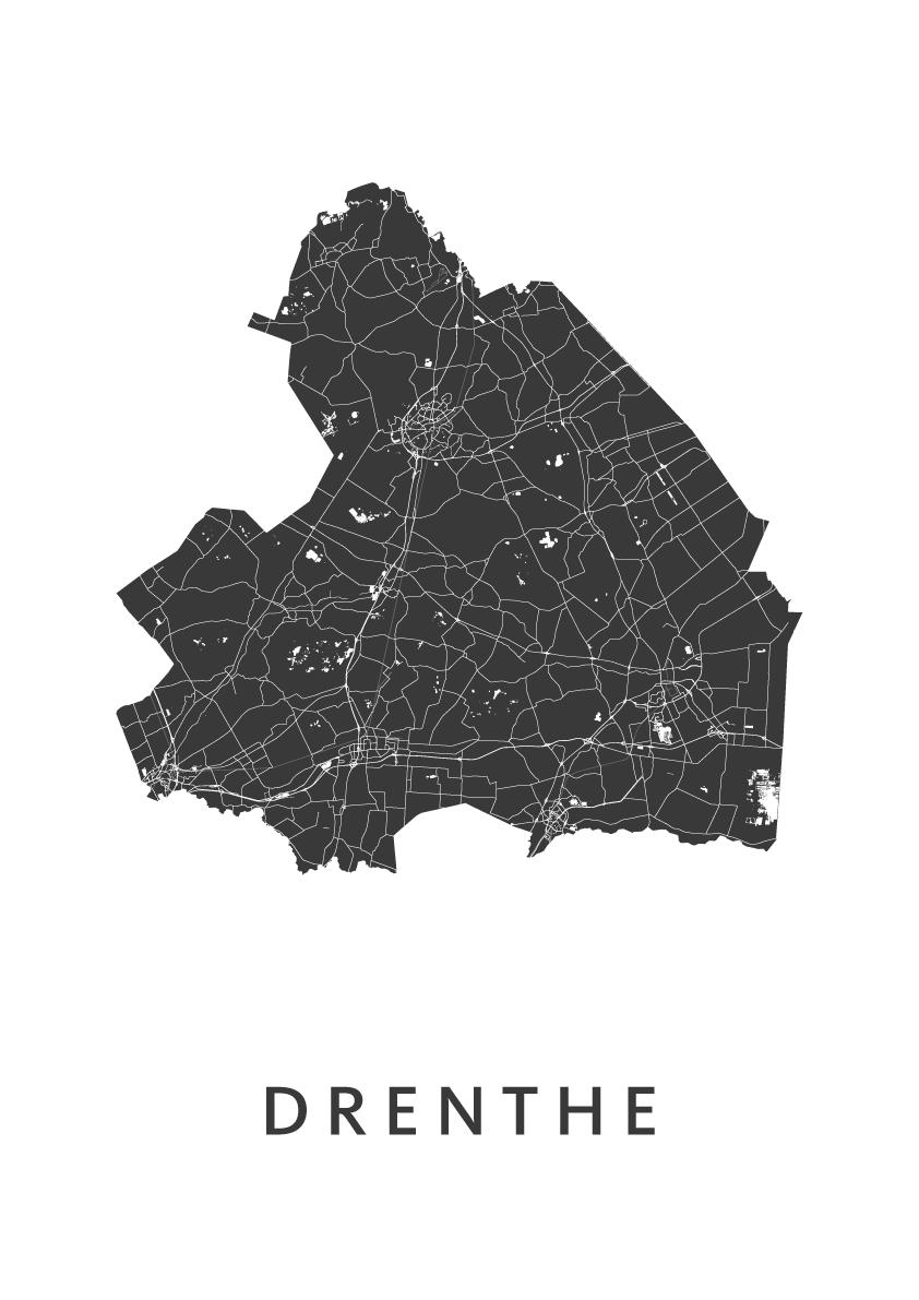 Drenthe Provinciekaart