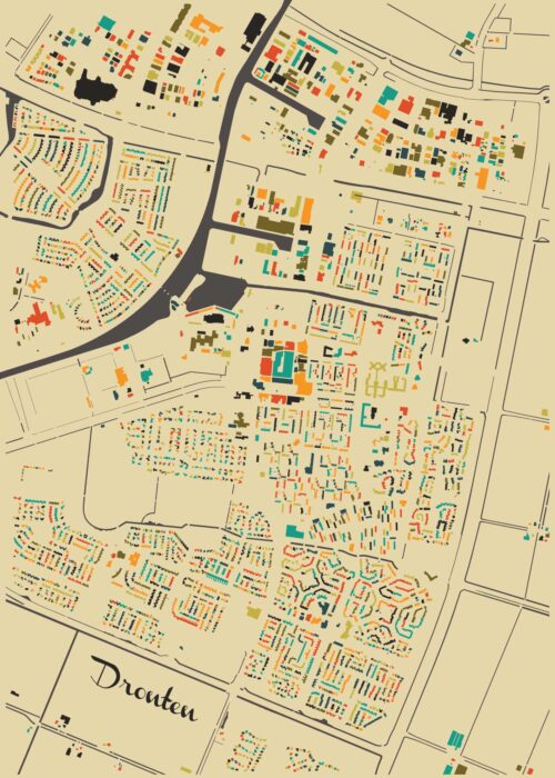 Dronten Autumn Mosaic Map