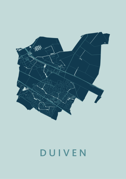 Duiven Mint Stadskaart Poster | Kunst in Kaart