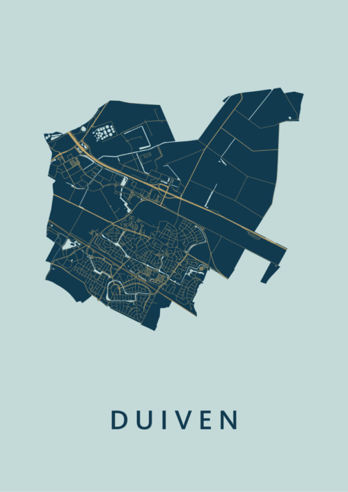 Duiven Prussian Stadskaart Poster | Kunst in Kaart