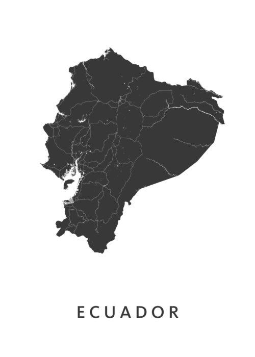 Ecuador Landkaart
