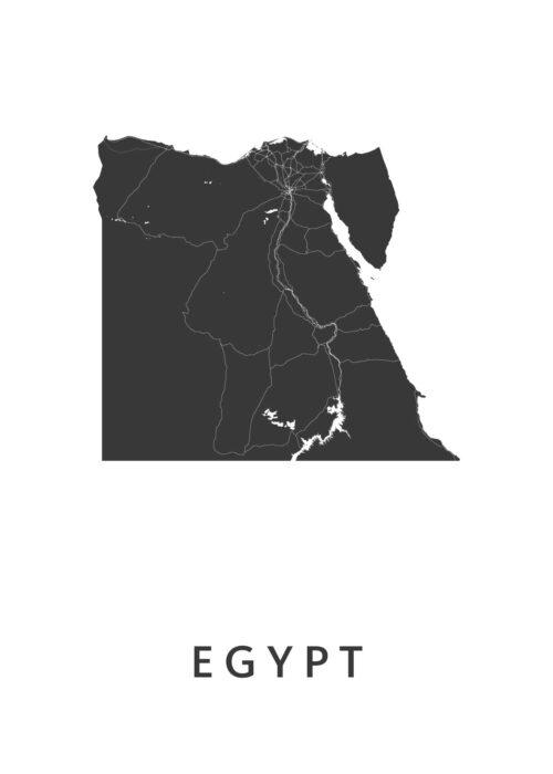 Egypt Landkaart