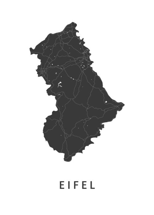 Eifel kaart posters