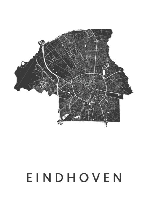 Eindhoven Stadskaart poster