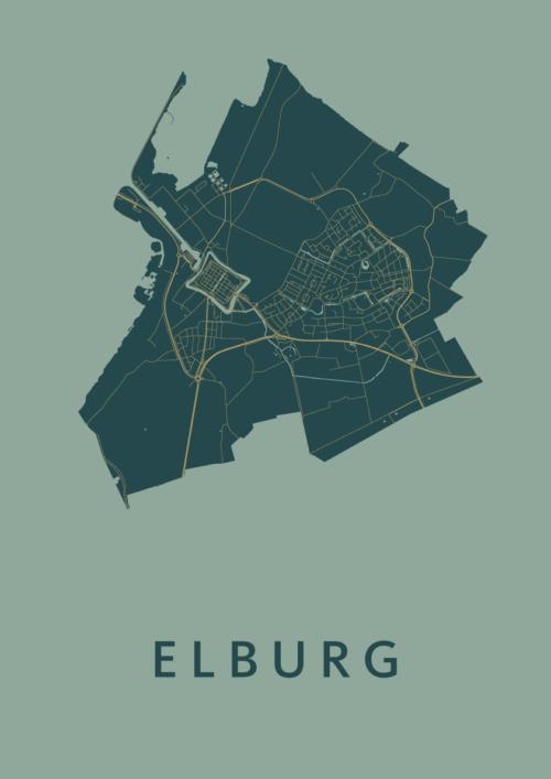 Elburg Amazon Stadskaart Poster   Kunst in Kaart