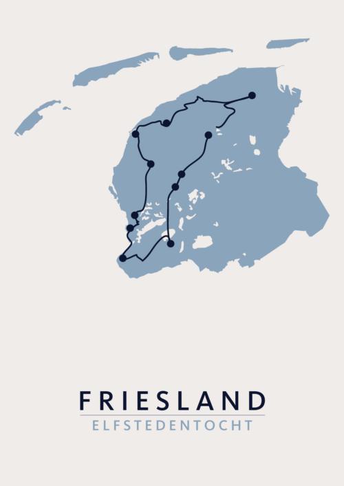 Elfstedentocht Friesland kaart