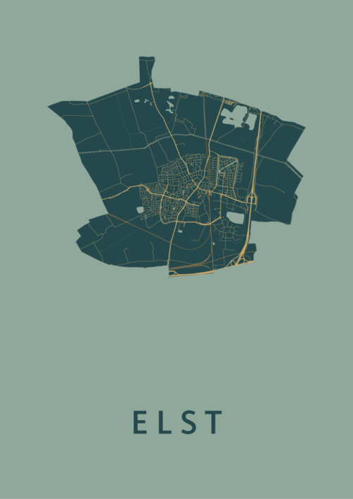 Elst Amazon Stadskaart Poster   Kunst in Kaart