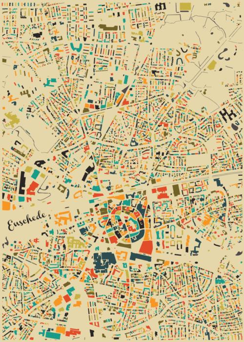 Enschede Autumn Mosaic Map