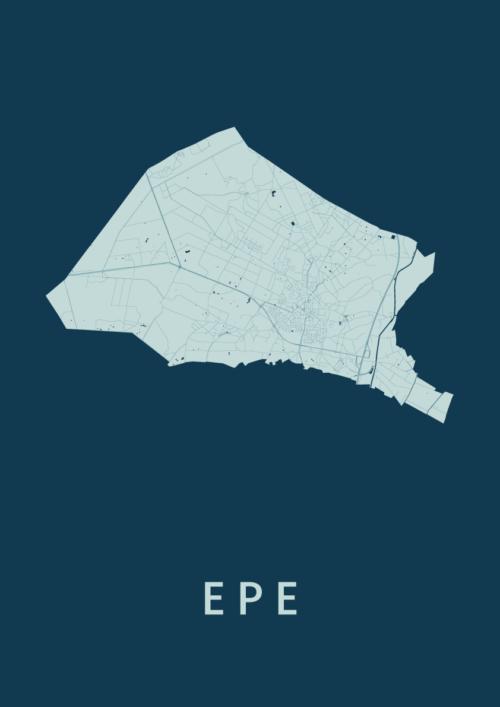 Epe Feldgrau Stadskaart Poster | Kunst in Kaart