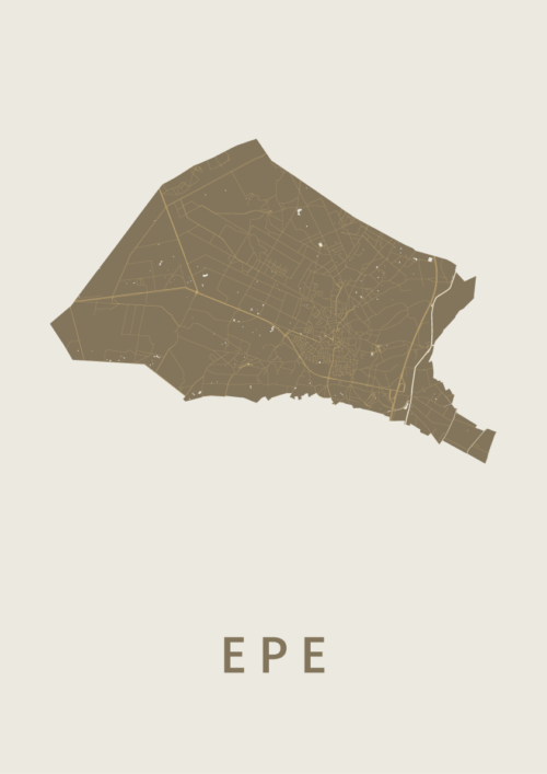 Epe Gold Stadskaart Poster | Kunst in Kaart