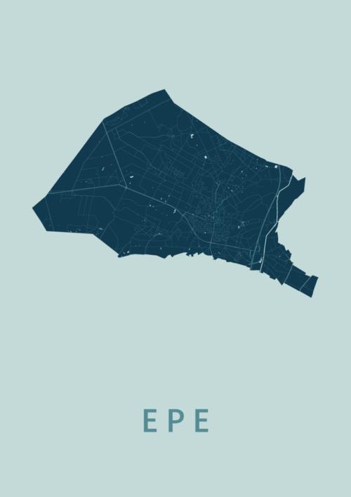 Epe Mint Stadskaart Poster | Kunst in Kaart