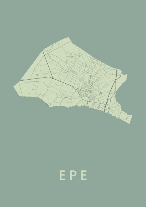 Epe Olive Stadskaart Poster | Kunst in Kaart