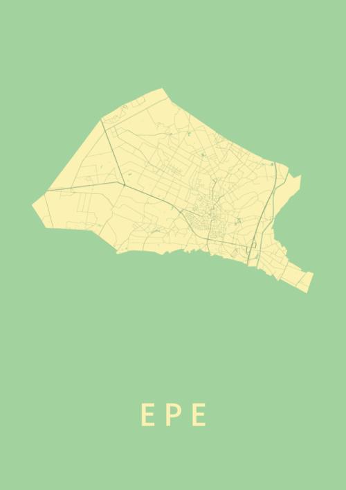 Epe Spring Stadskaart Poster   Kunst in Kaart
