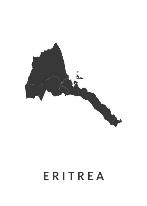 Eritrea Landkaart
