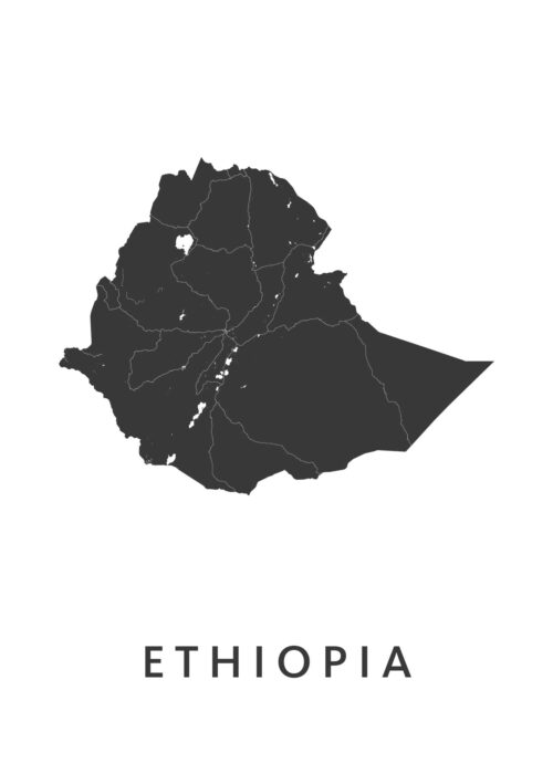 Ethiopia Landkaart