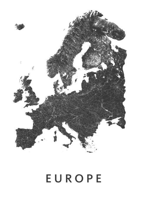 Europe kaart