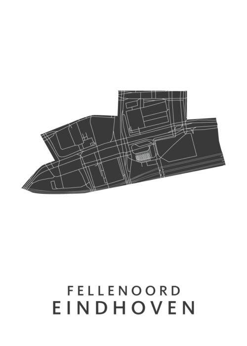 Eindhoven - Fellenoord White Wijk Map